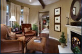 Living room at Sea Cove courtyard homes.