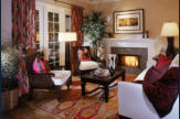 Living room at Sea Colony paseo homes.